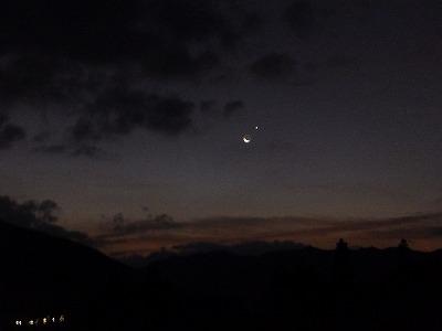 12月14日「三日月と金星」