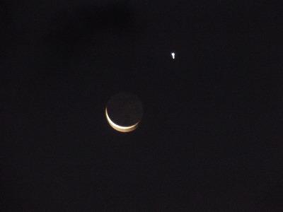 12月21日「三日月と金星」