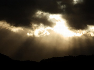 1月10日「天使の梯子」