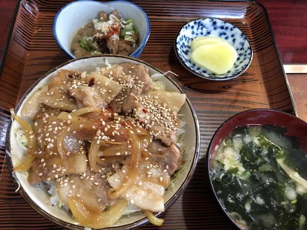 豚バラ丼定食