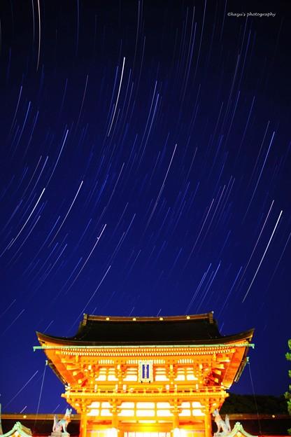 写真: 伏見稲荷に星が降る♪