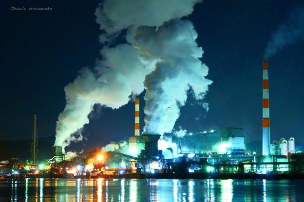 もくもく工場夜景♪