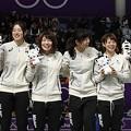 オランダを破り金メダルを獲得した日本女子パシュートチーム