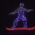 Photos: ドローンで五輪彩ったインテル2月9日の開会式で流されたスノーボーダーの映像(インテル提供)