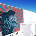 マイアミ在住の新進気鋭画家、ビュー・スタットン氏(32)がロサンゼルス市内のロバート・F・ケネディ公立学校のジムの外装に描いた巨大な壁画。