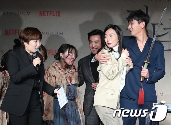 Netflixオリジナルドラマ「キングダム」の制作発表会-5
