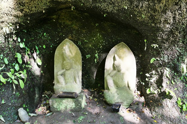 IMG_1730 浄智寺・竹林の石像