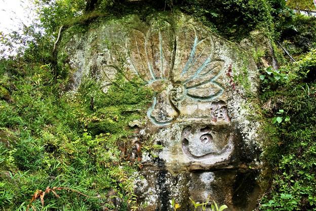 IMG_1616 半僧坊・崖に彫られた天狗のうちわ