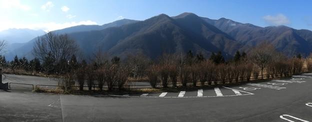 DSCN7581  三峯神社の駐車場からの眺め(パノラマ秩父)