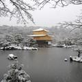 Photos: DSCN2488 雪中金閣寺-2(テーマタグ:ベストショット)