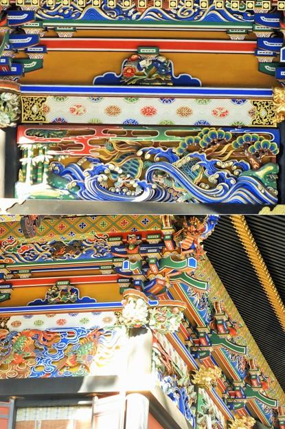 DSCN8051  拝殿の装飾-2