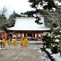 DSCN2443 醍醐寺・金堂と朝の勤行(テーマタグ:雪景色)
