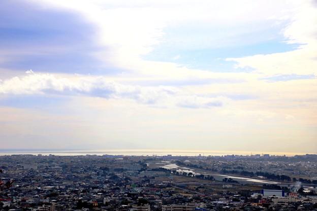 相模湾と足柄平野