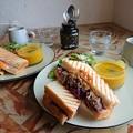 Photos: なんとかサンドセット。(cocofulu cafe 上中里)