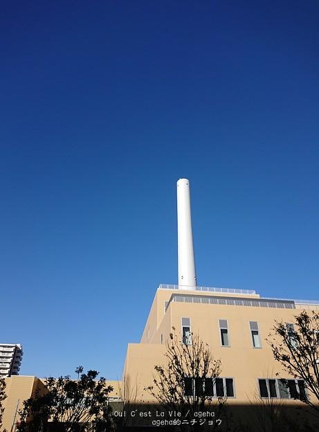光が丘清掃工場煙突。