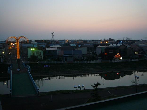 写真: 羽幌のホテルから撮影