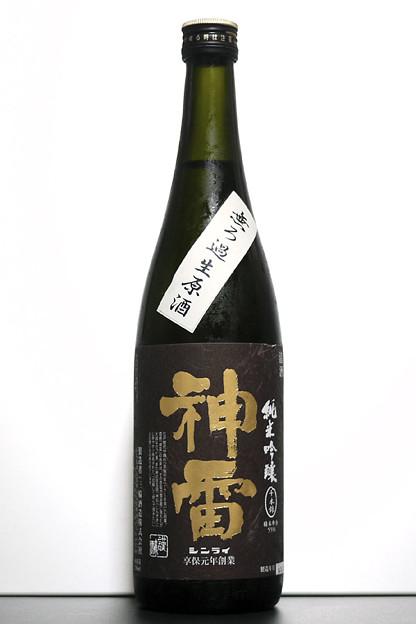 【日本酒:広島】 神雷 純米吟醸 黒ラベル無ろ過生原酒