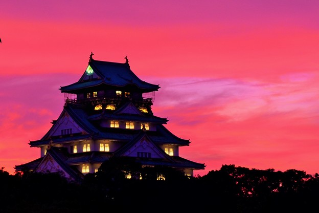 大阪城  夕景