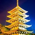 写真: なら灯花会 興福寺五重塔