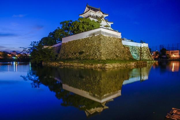 岸和田城 水鏡