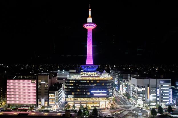 2019  ピンクリボンライトアップ京都タワー