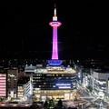 Photos: 2019  ピンクリボンライトアップ京都タワー