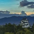 伊賀上野城夕景