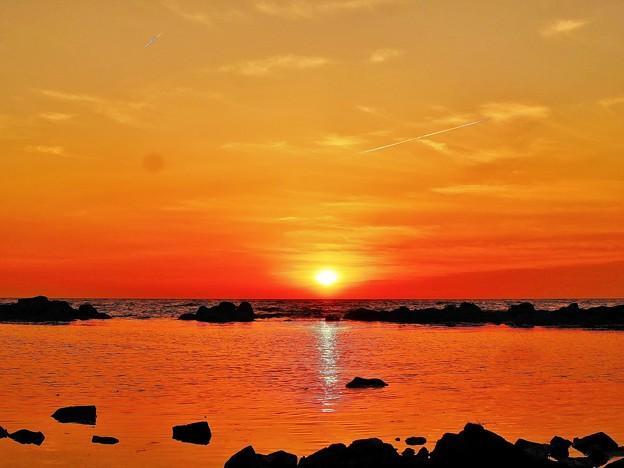 海抜30cからの夕陽