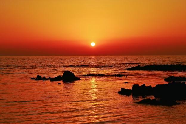 夕景 日本海