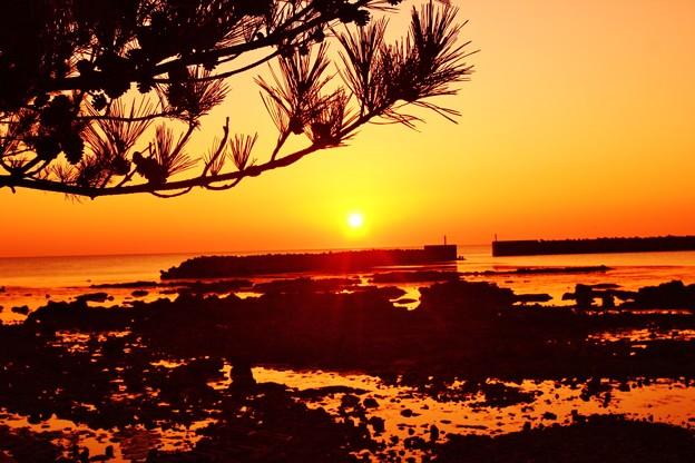 夕景 赤住漁港