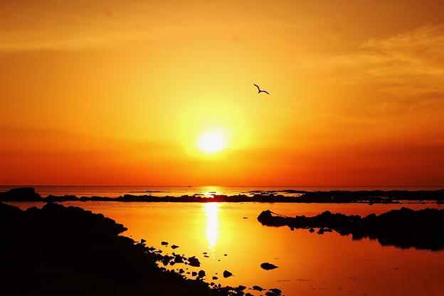夕景 能登上野海岸