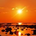 夕景 太陽が一杯