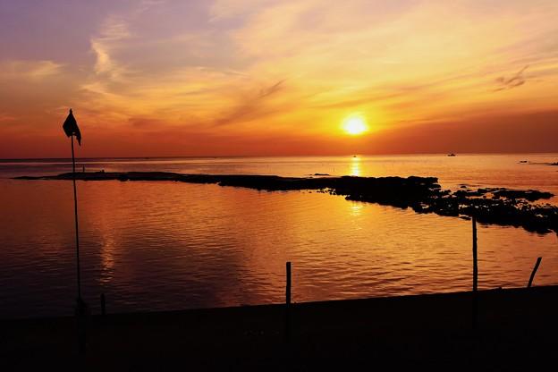夕景 百浦漁港