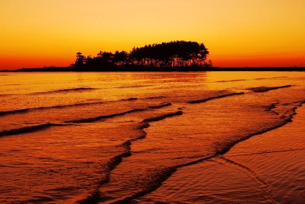 夕景 能登は安部屋海岸
