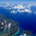 写真: 機上からの宮古島なのです^^