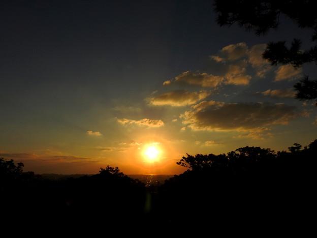 首里城からの夕日なのです^^