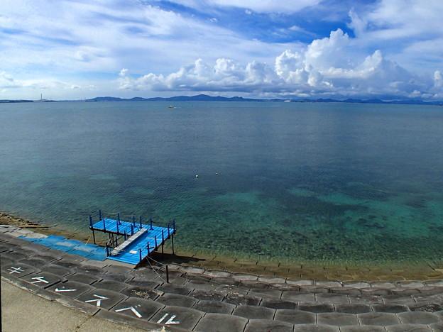 沖縄海中道路からの海なのです^^