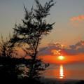 Photos: オクマビーチの夕日なのです^^