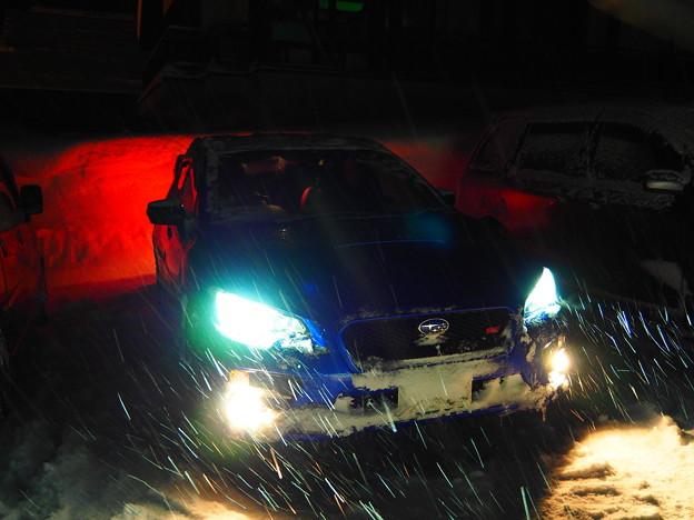 雪の日のWRX