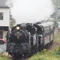 Photos: SLもおか重連 下館二高前ー折本