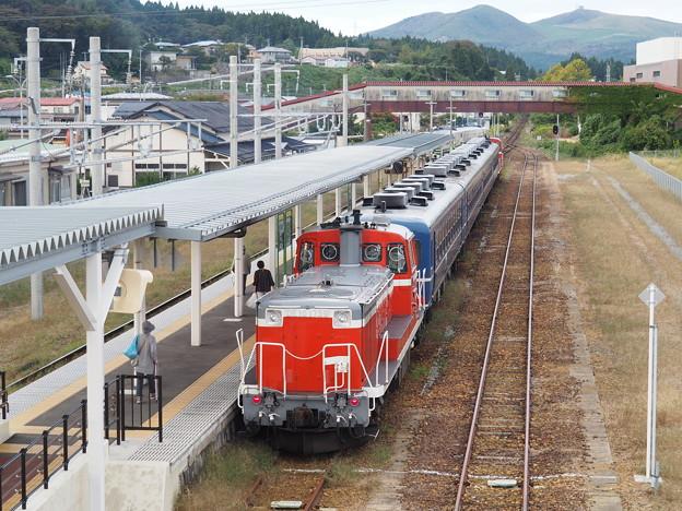 なつかしの12系客車で行く男鹿温泉日帰りの旅 男鹿駅出発