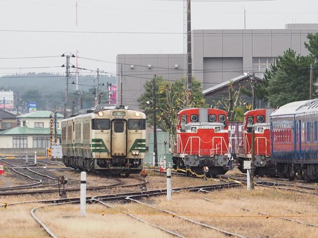 秋田臨海鉄道特別公開2020 臨時列車入線