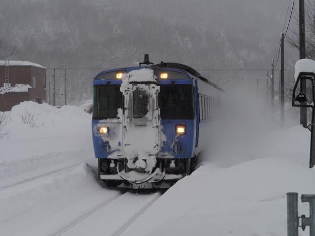 石北本線 中愛別駅 特急大雪