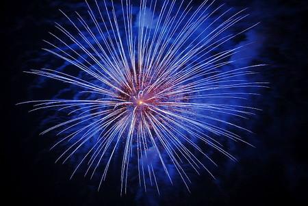 奈良、吉野川の花火(9)