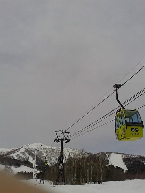 連日の雨風でザクザク中抜け、危険。内地より雪悪いかも、滑る暇ないけどな。