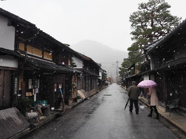 近江八幡冬の街並み
