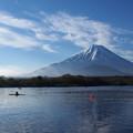 写真: 精進湖にて3