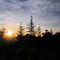 写真: 八千穂高原の夜明け