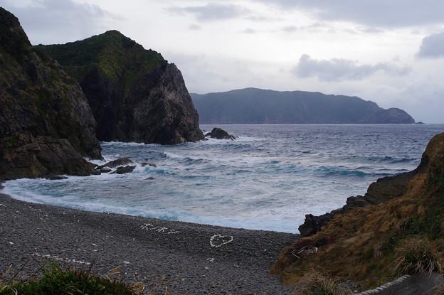 荒々しい浜:ホノホシ海岸