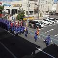 写真: 消防点検前のパレード